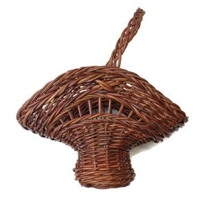 Vintage Wicker Woven Flower Basket